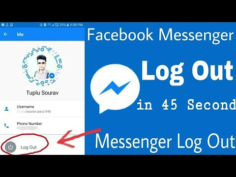 HOW TO LOG OUT FROM FACEBOOK MESSENGER ON ANDROID 2017 NEW