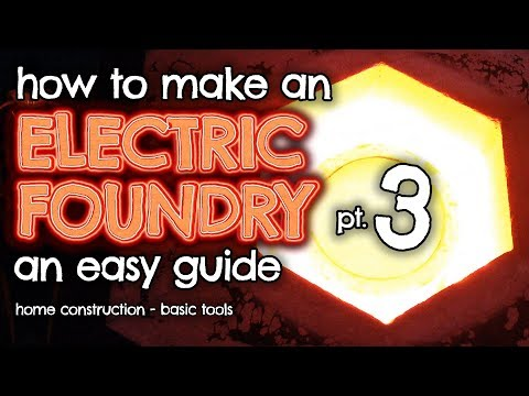 How to make an ELECTRIC Foundry for metal casting Part 3 by VegOilGuy
