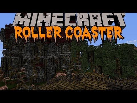 Minecraft: HALLOWEEN ROLLER COASTER! (HUGE SCARY ROLLER COASTER) Build Showcase