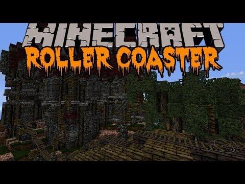 Minecraft: HALLOWEEN ROLLER COASTER! (HUGE SCARY ROLLER COASTER) Build Showcase