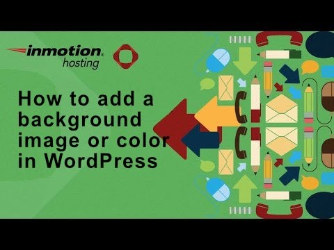 How to add a background image or color in WordPress
