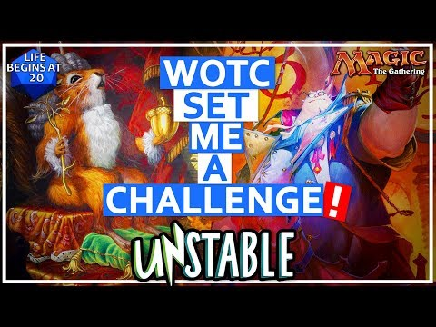 WOTC Set Me An MTG Challenge! Unstable Packs Opening and Deck Tech