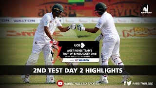 Bangladesh vs Windies Highlights    2nd Test    Day 2    Windies tour of Bangladesh 2018