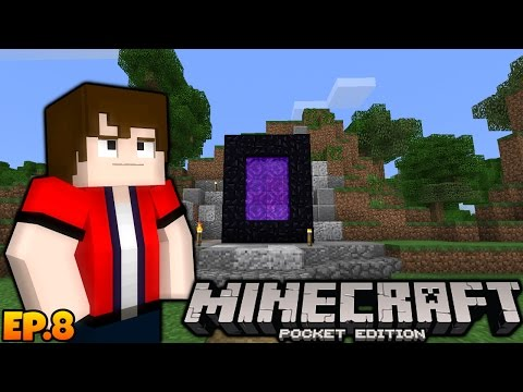 NETHER PORTAL!! - Minecraft PE Survival Indonesia #8