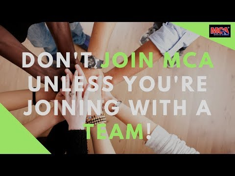 MCA Motor Club Of America Team Work - How To Grow Your MCA Business With A Winning Team