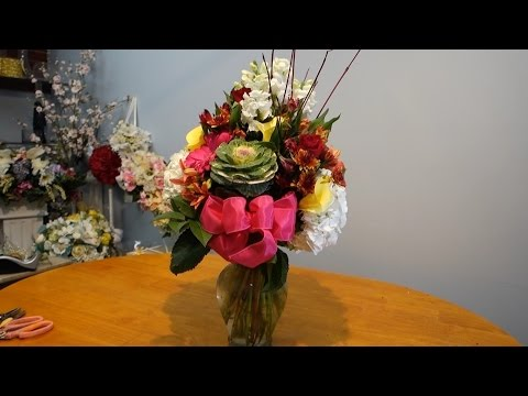 How to arrange mix flowers In a vase