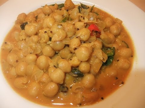 Chick Pea Curry (Kadala Curry)