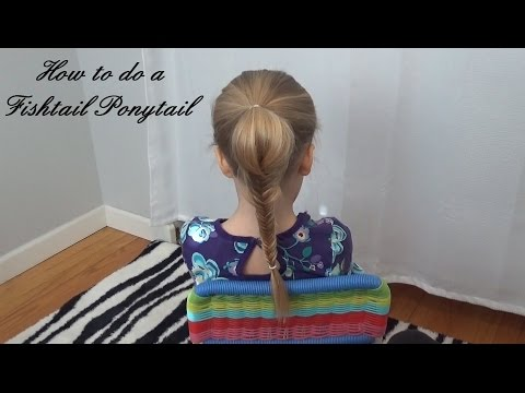 How to do a Ponytail Fish Tail Braid