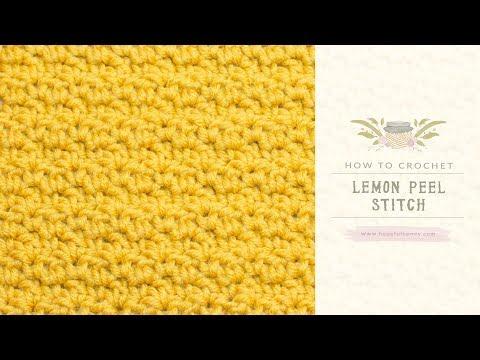 How To: Crochet The Lemon Peel Stitch | Easy Tutorial by Hopeful Honey