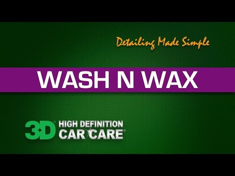 How to wash and wax your car exterior at the same time!