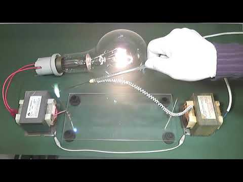 Invisible wire High Voltage (experiment)