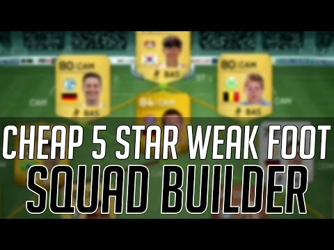 THE AFFORDABLE 5 STAR WEAK FOOT SQUAD (CHEAP) | FIFA 14 Ultimate Team Squad Builder (FUT 14)