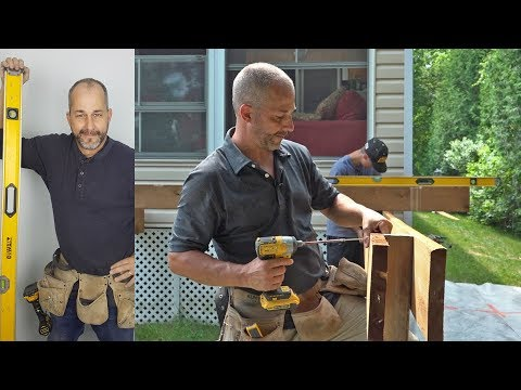 How to build a floating deck Part 1 Layout and Box beam