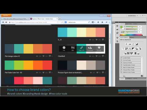 WordPress Tutorial 01 - Choosing brand colors for your website.