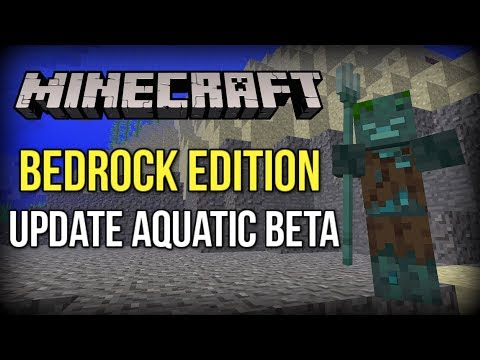 Minecraft Update Aquatic Bedrock Beta - Tridents, Drowned + MORE! (Xbox/Windows 10/PE)