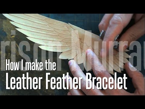 How I make the Leather Wing Bracelet