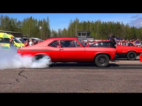 High Power Street Cars Drag Racing - Vesivehmaa Airfield 2017