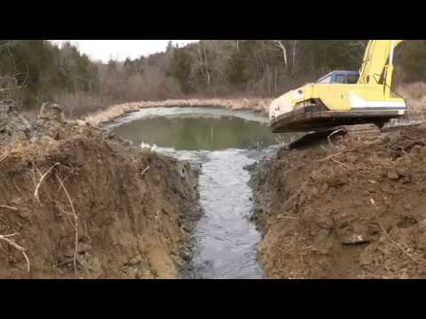 Cleaning out an old pond