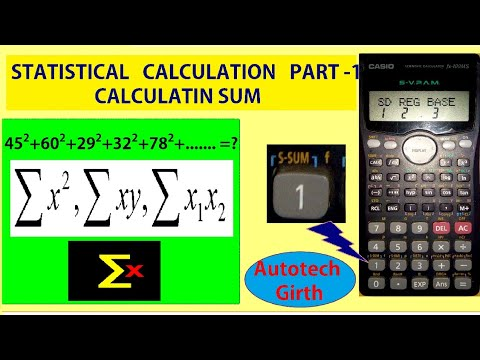 Statistical calculation part 1 finding sum by scientific calculator