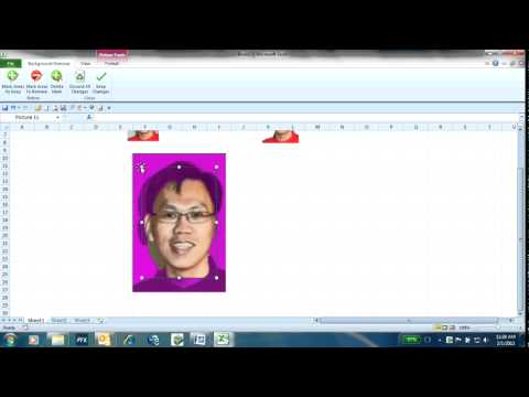Remove picture background using Excel 2010