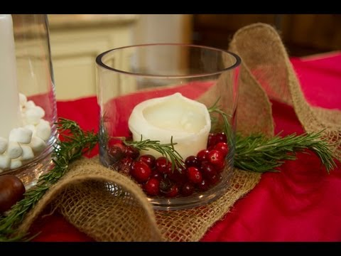 Christmas Candle Centerpiece Ideas - Let's Craft with ModernMom - 12 Days of Christmas (Day 2)