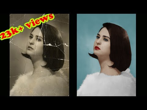 How To Restore and Repair Old Damaged Photo In Photoshop | Colorize Black and White Photo |