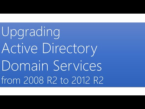 Upgrading Active Directory Domain Services from 2008 R2 to 2012 R2
