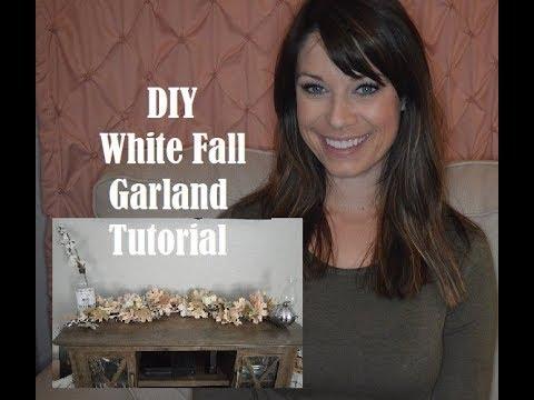 DIY White Fall Garland