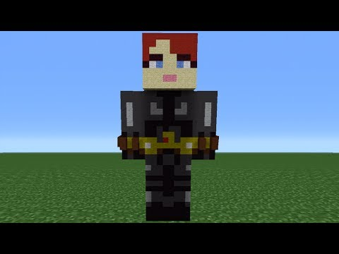 Minecraft 360: How To Make A Black Widow Statue (The Avengers)