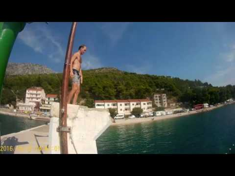 dive from Drvenik ferry port pier whilst waiting to sail to hvar