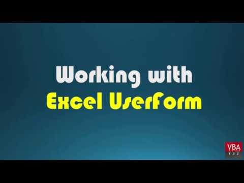 VBA working with Excel Userform