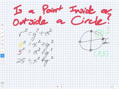 Is a Point Inside or Outside a Circle (Grade 10 Academic)