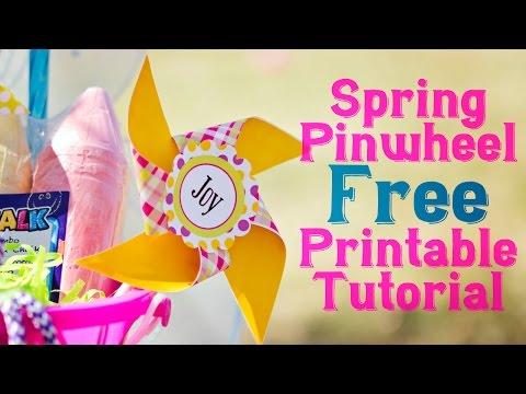 Spring Pinwheels Free Printables