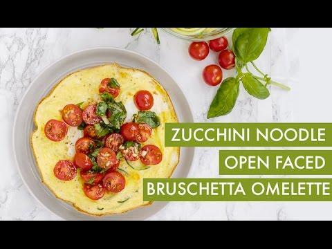 Zucchini Noodle Summer Omelette I Gluten-Free + Vegetarian Spiralizer Recipe