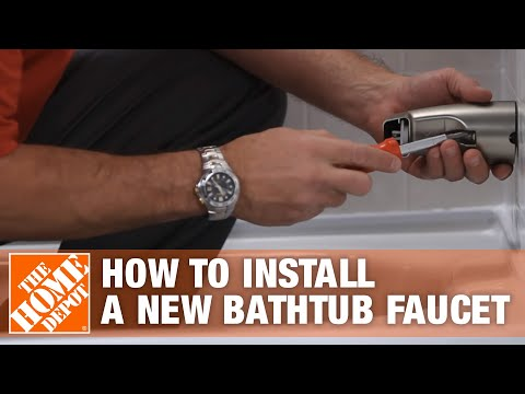 See How Easy It Is To Install A New Bathtub Faucet Using The Sioux Chief Smart Spout - The Home Depo