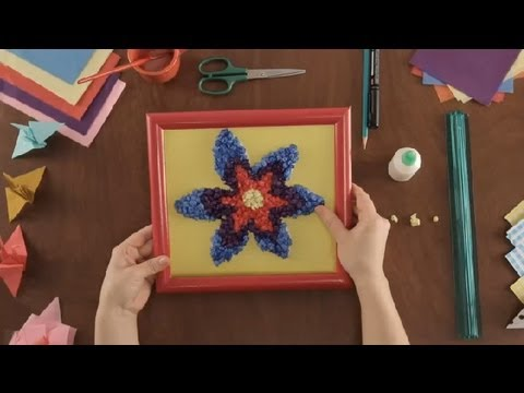 How to Make a Frame With Tissue Paper : Paper Art Projects