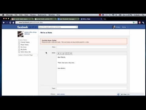 How to Recover Disappearing Facebook Message Drafts : Facebook Tutorials