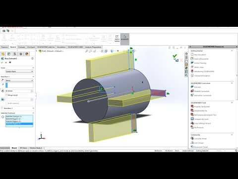 Simple step to model blades and shaft in SolidWorks