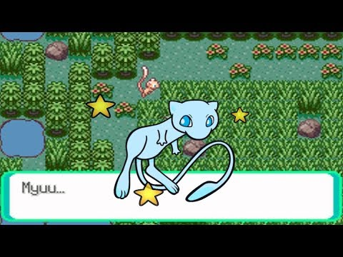 Shiny Mew in Emerald after what felt like a Million RAs!