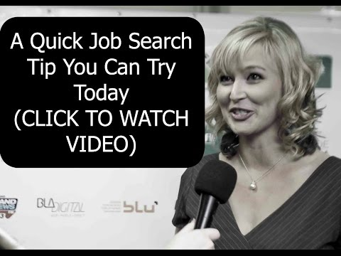 A Quick Job Search Tip Before Our Live Webinar!!