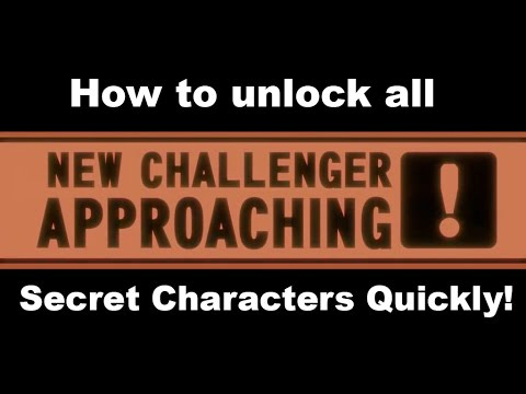Smash Bros 3DS: How to Unlock All Secret Characters QUICKLY!!! (Tips and Tricks)