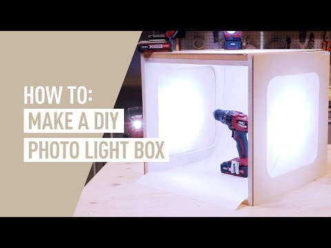 How to make a photography light box - EASY DIY