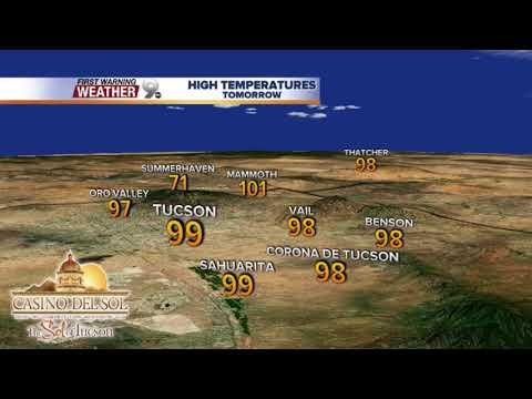Chief Meteorologist Erin Chritiansen's KGUN 9 Forecast Monday, May 28, 2018