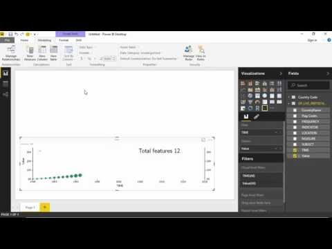 Dotted Line Chart With Play Axis using power BI Desktop