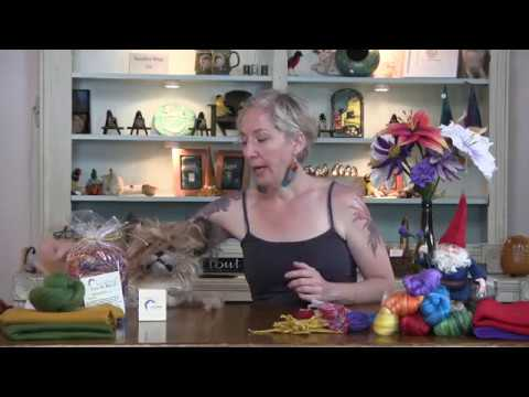 Wet Felted Flower Part One: Fiber Layout and Wet Felting