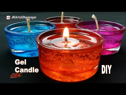 DIY How to make Gel Candles | JK Arts 1089