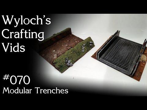 070 - Modular Trenches (Sci-Fi Terrain for Warhammer 40k, Starfinder, etc.)