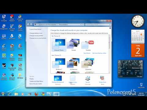 How To Change Transparency on Windows 7