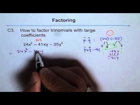 Factoring Trinomials with Large Numbers C3