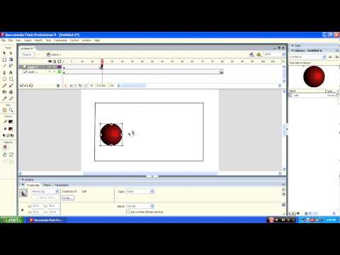 How to create ball bouncing animation in Macromedia flash 8